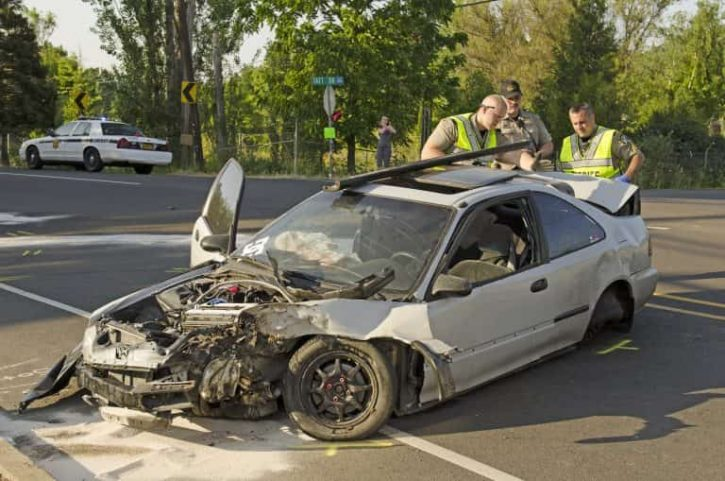 What is leading cause of single car accidents personal for There are usually collisions in a motor vehicle crash
